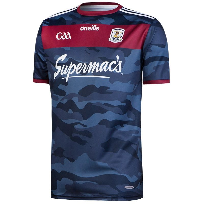 Galway GAA 2-Stripe Player Fit Away Jersey Navy