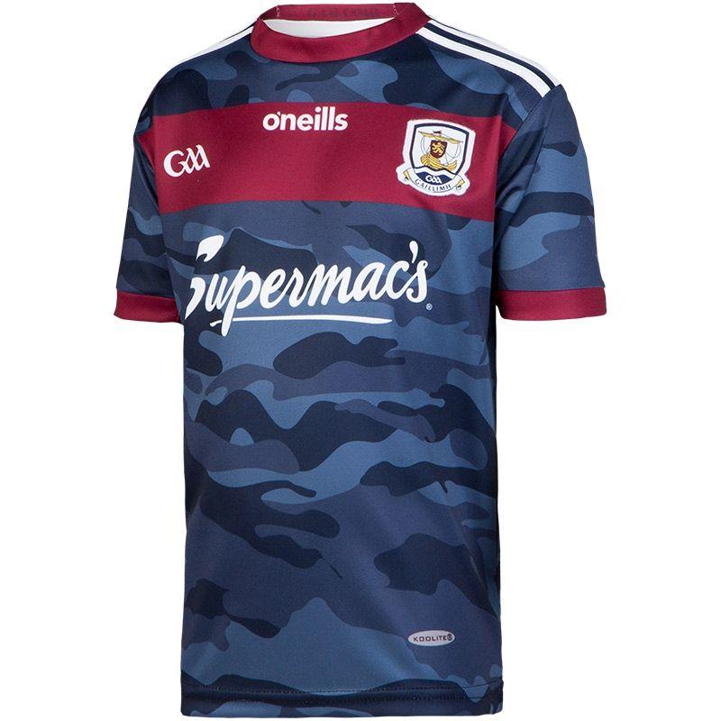 Galway GAA Kids' Away 2-Stripe Jersey (Navy)