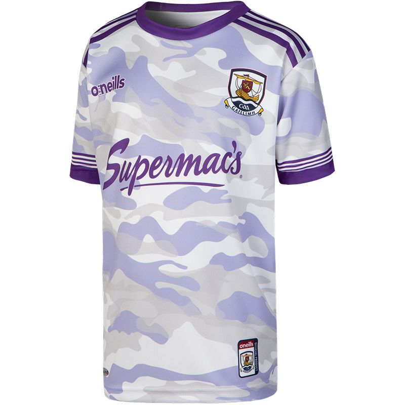 Galway GAA Kids' Camouflage Short Sleeve Training Top Purple