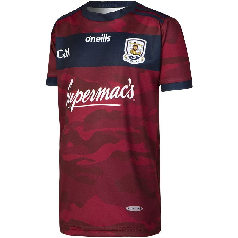 Galway GAA Kids' Away Goalkeeper Jersey Maroon