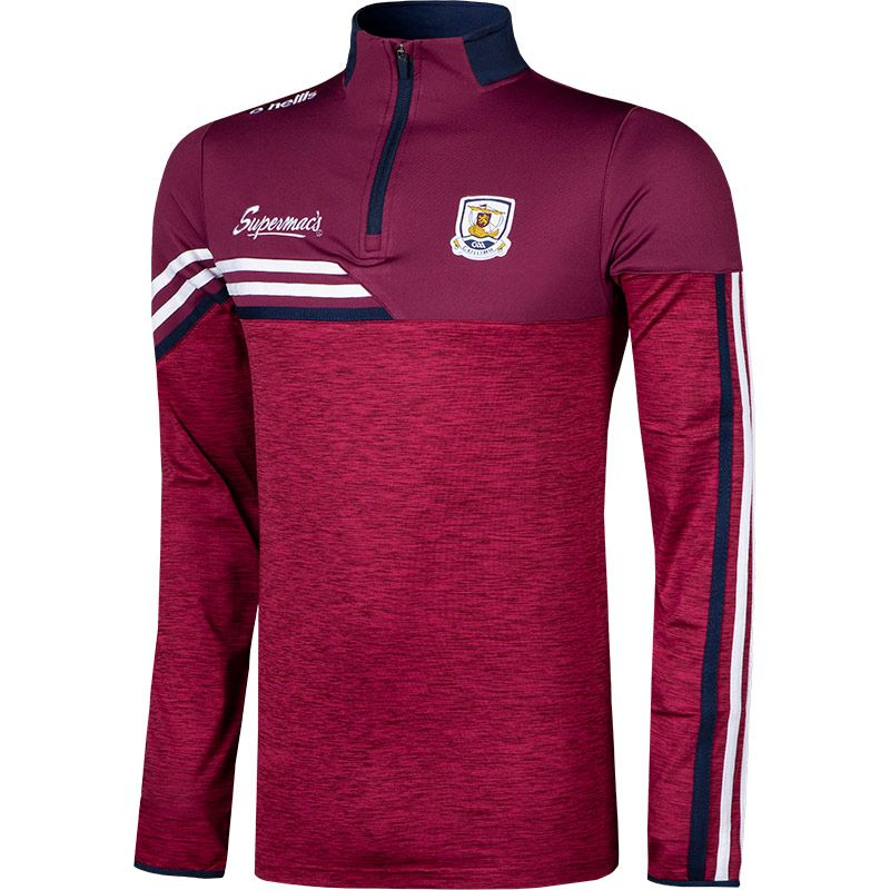 Galway GAA Men's Nevis Brushed Half Zip Maroon / White