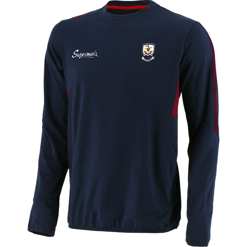 Galway GAA Men's Raven Brushed Sweatshirt Marine / Pink / Red