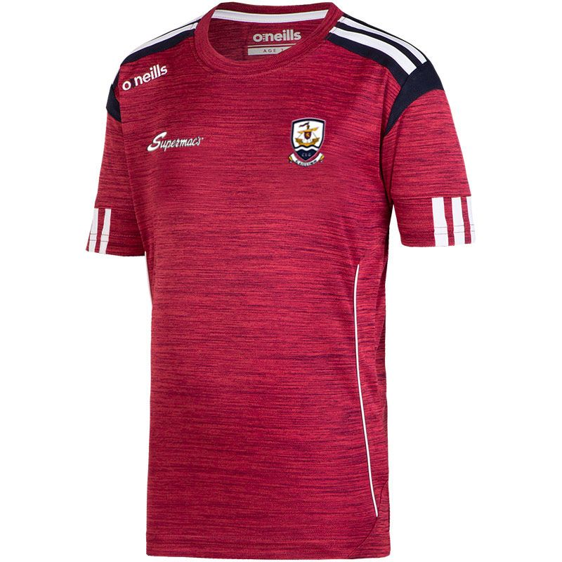 Galway GAA Solar 3s T-Shirt (Mel Maroon/Marine/White) (Kids)