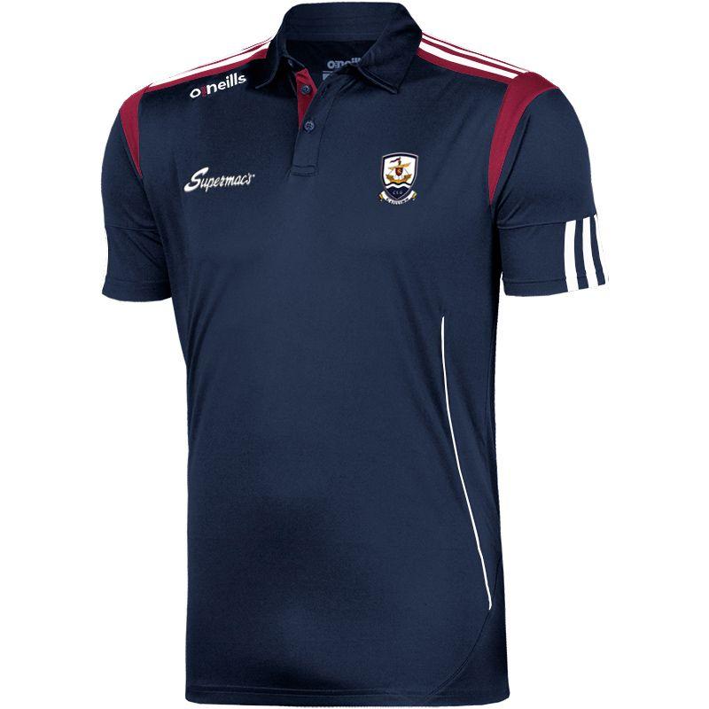 Galway GAA Solar 3S Polo Shirt (Marine/Maroon/White)