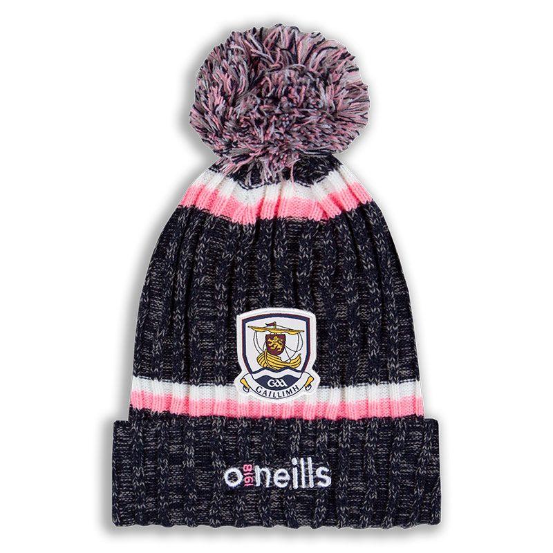 Galway GAA Nevis Bobble Hat Marine / Pink / White