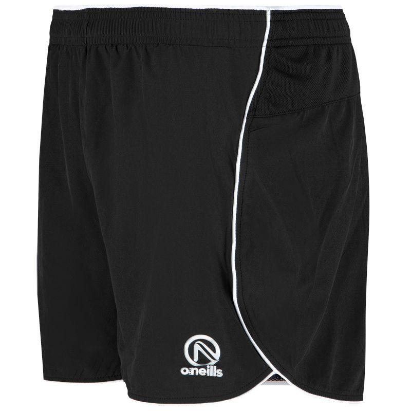 Women's Graphite Athletic Short Black / White