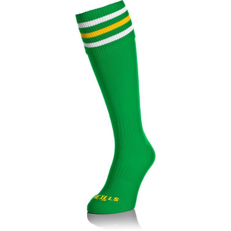 Kids' Premium Socks Bars Green / White / Amber