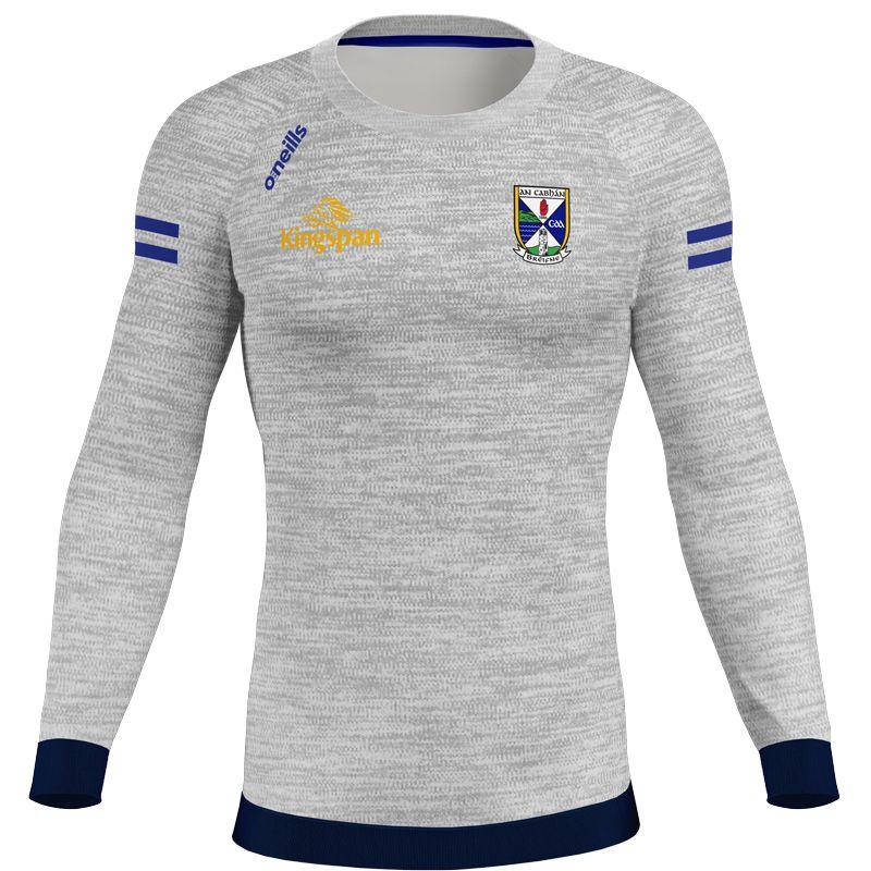 Cavan GAA Kids' Voyager 2 Stripe Crew Neck Sweatshirt Grey / Marine / Royal