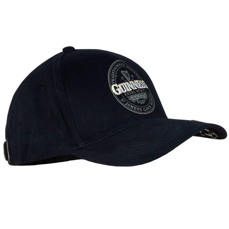 Guinness Label Bottle Opener Cap Black