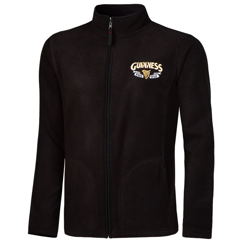 Guinness Harp Fleece Jacket Black