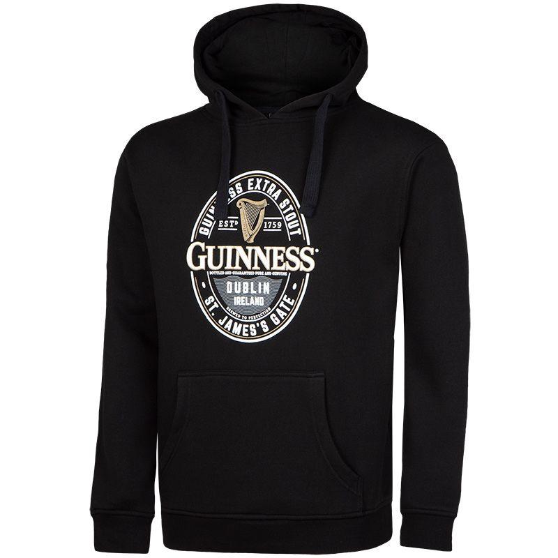 Guinness Hoodie St James Gate Emblem Black