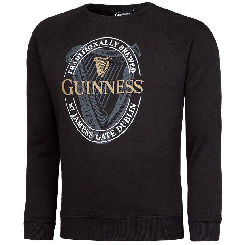 Guinness Sweatshirt Crew English Black