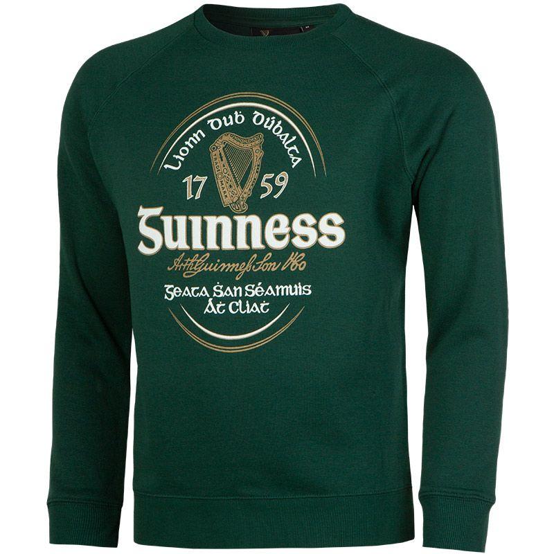 Guinness Irish Label Crew Neck Sweatshirt Bottle