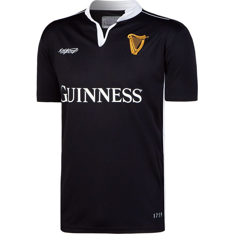 Guinness Performance Short Sleeve Rugby Jersey Black