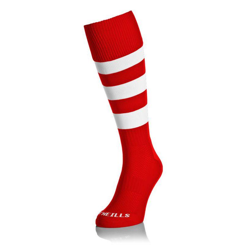 Premium Socks Hoops (Red/White) Kids