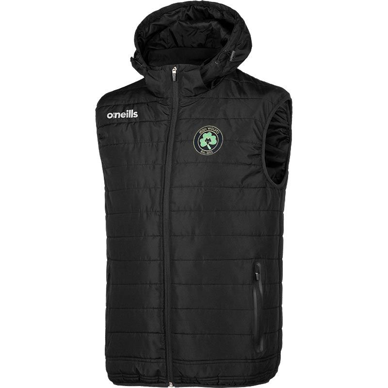 Irish Wolves Supporters Club Mens Hooded Gilet