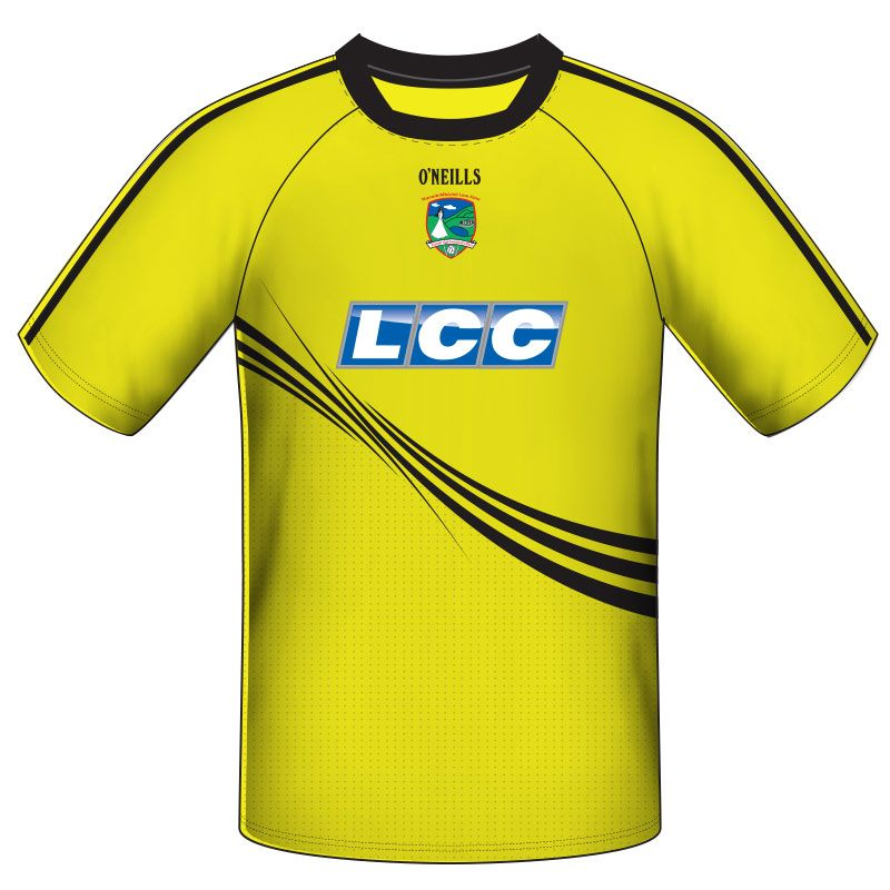 Lissan GAC GAA Training Short Sleeve Top Kids (Yellow)