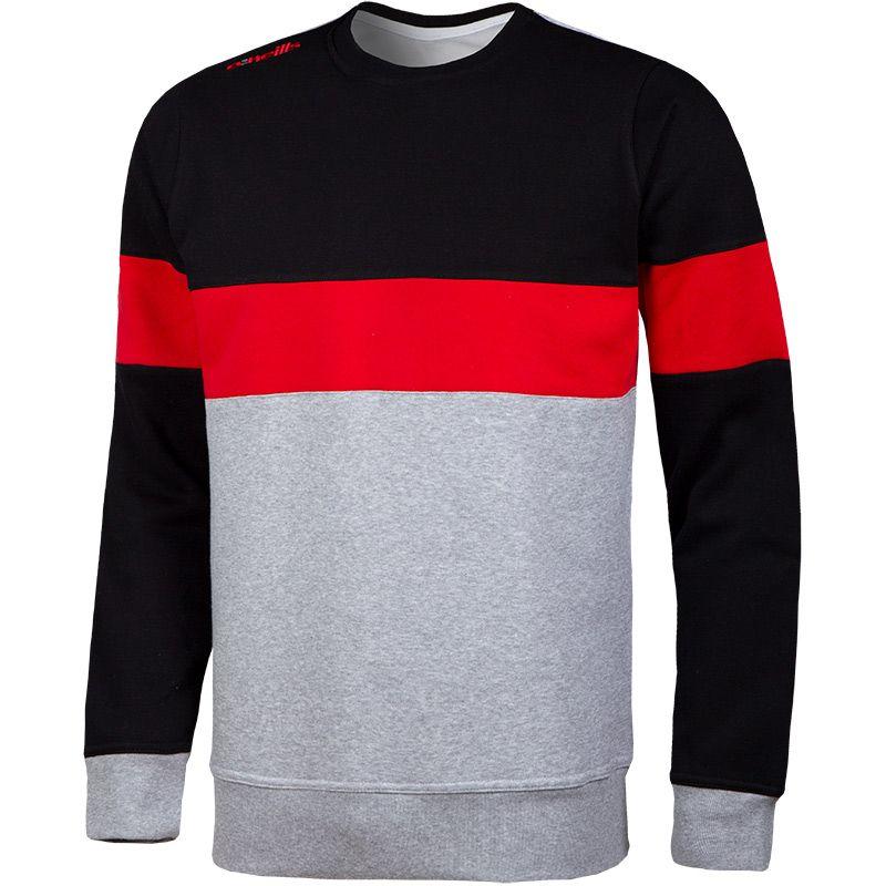 Men's Jonas Sweatshirt Grey / Black / Red