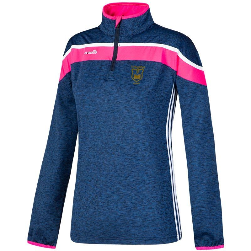 John Mitchels GAA Kerry Kids' Slaney 3s Brushed Half Zip Training Top