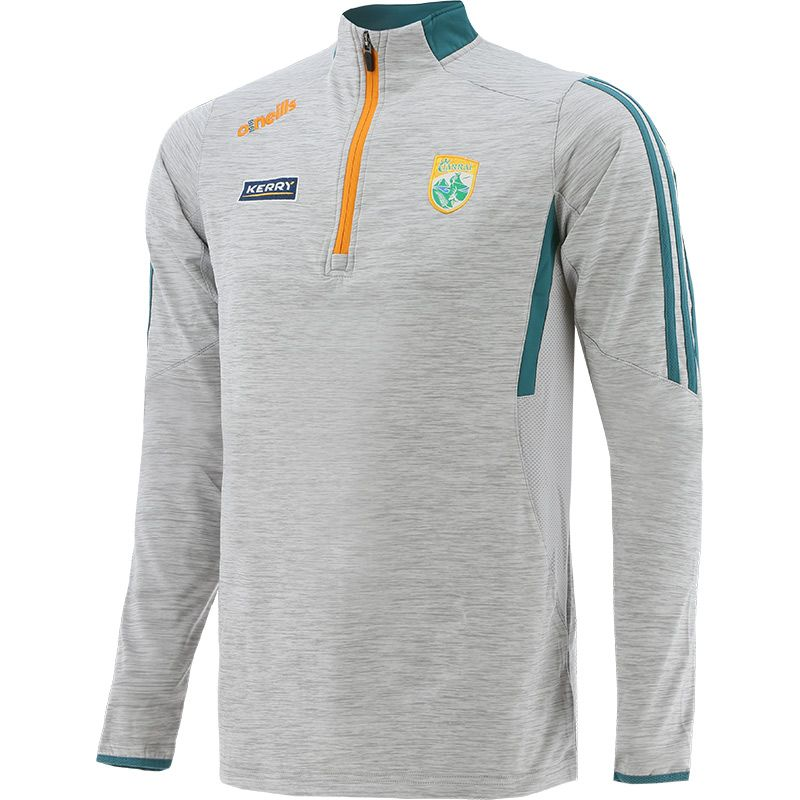Kerry GAA Kids' Raven Brushed Half Zip Silver / Green / Orange
