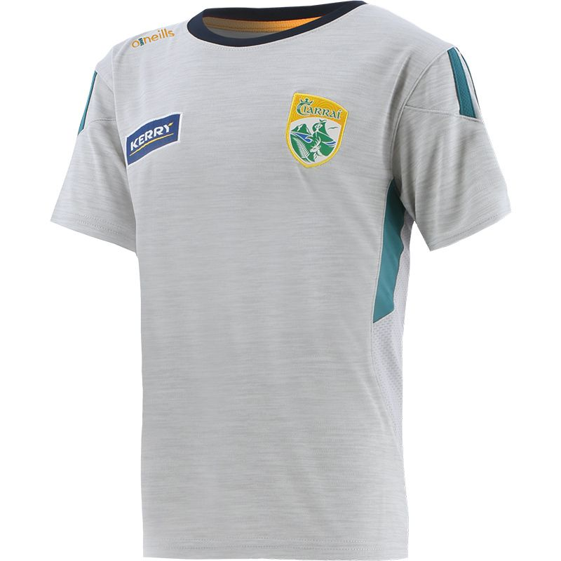 Kerry GAA Kids' Raven T-Shirt Silver / Green / Marine