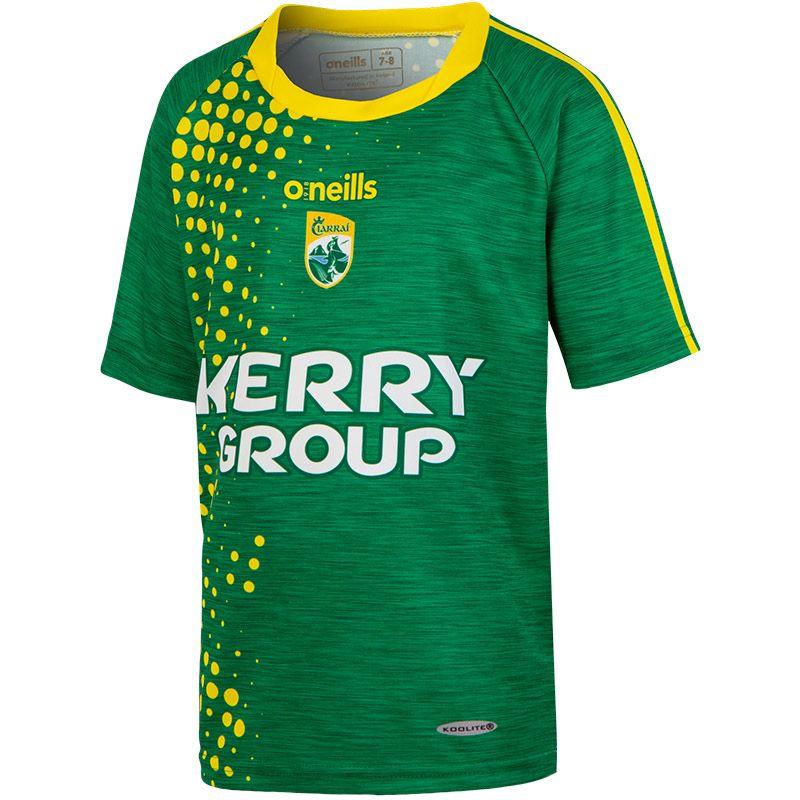 Kerry GAA Kids' 2-Stripe Replica Short Sleeve Training Top