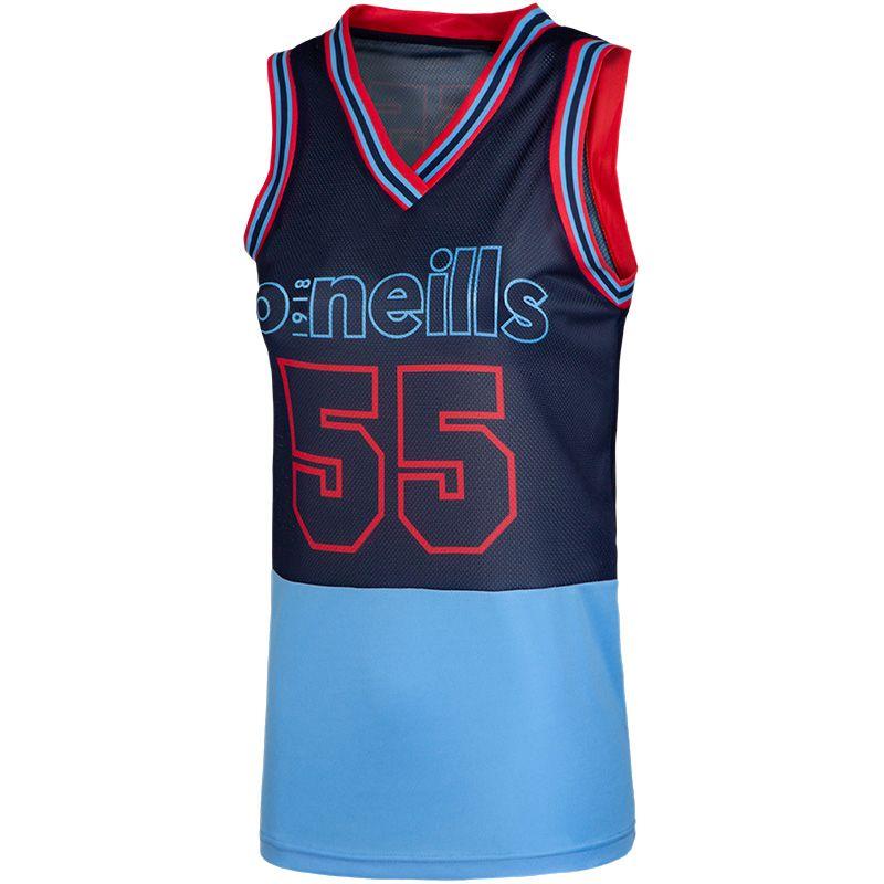 Women's Khloe Basketball Vest Marine / Red / Sky