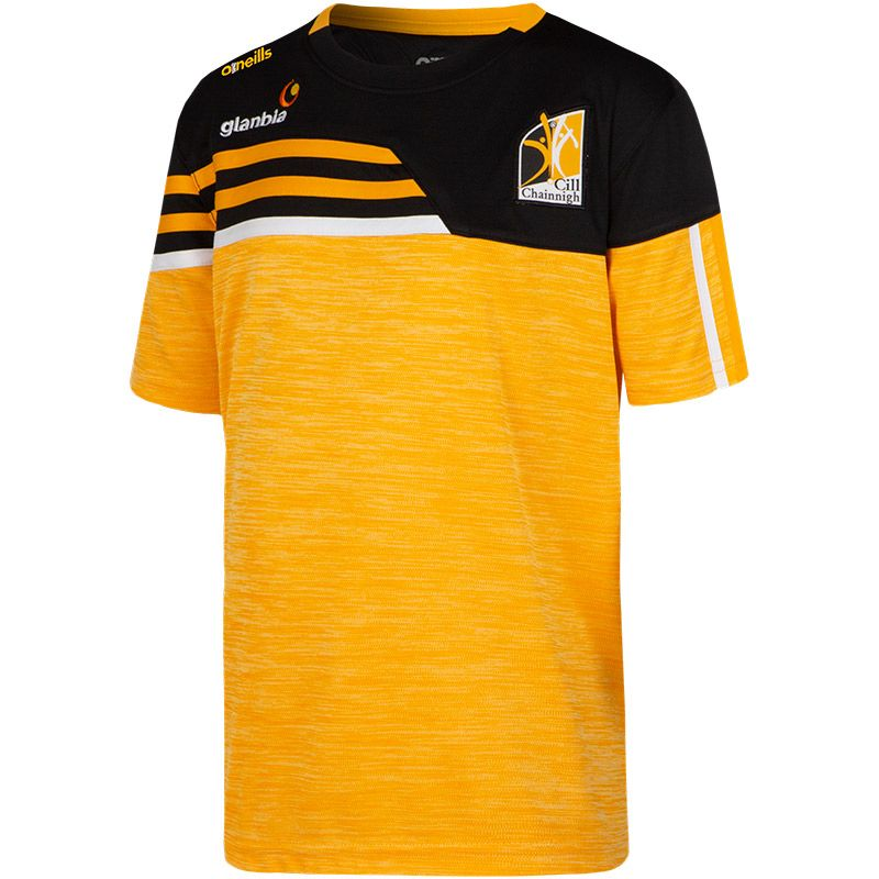 Kilkenny GAA Kids' Nevis T-Shirt Amber / Black / Amber