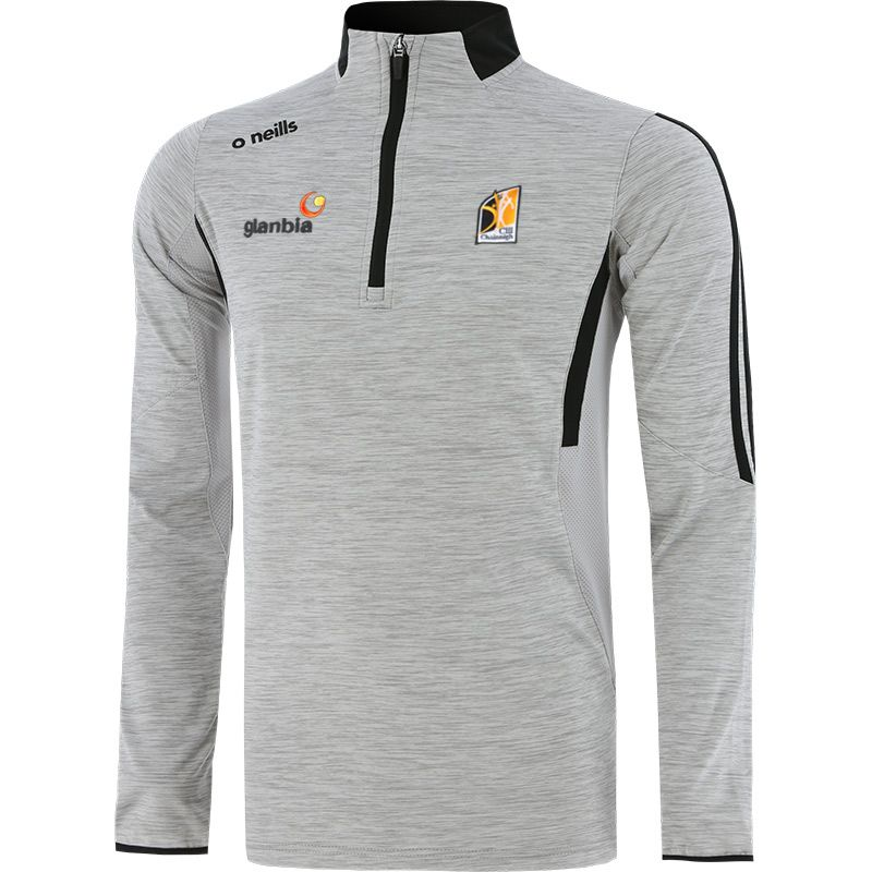 Kilkenny GAA Kids' Raven Brushed Half Zip Silver / Dark Grey