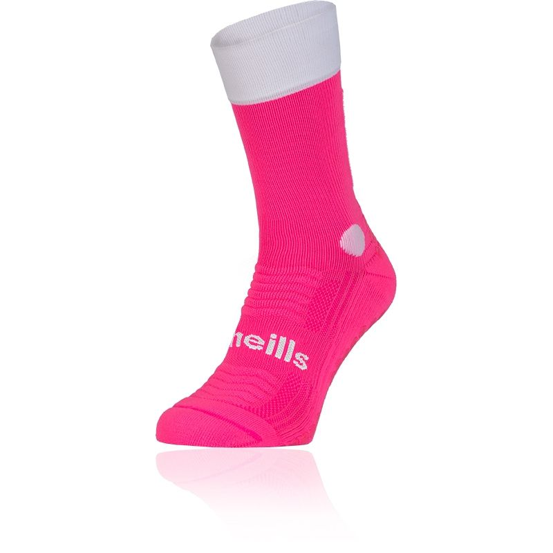 Women's Koolite Grip Midi Sock Flo Pink / White