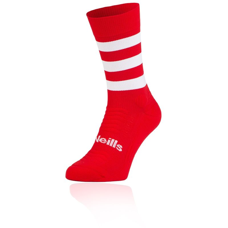 Kids' Koolite Pro Midi Hoop Socks Red / White