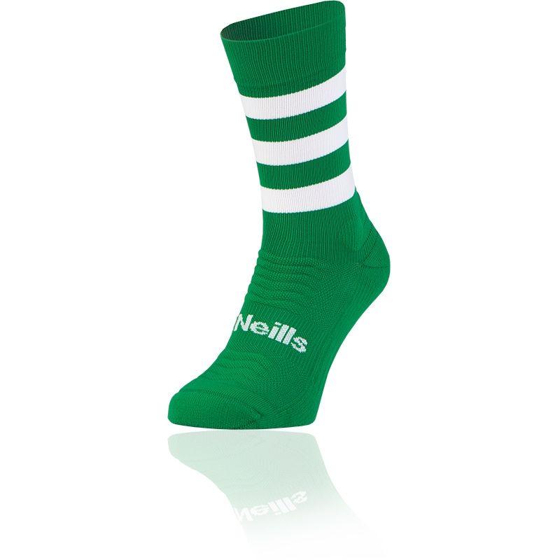 Kids' Koolite Pro Midi Hoop Socks Emerald / White