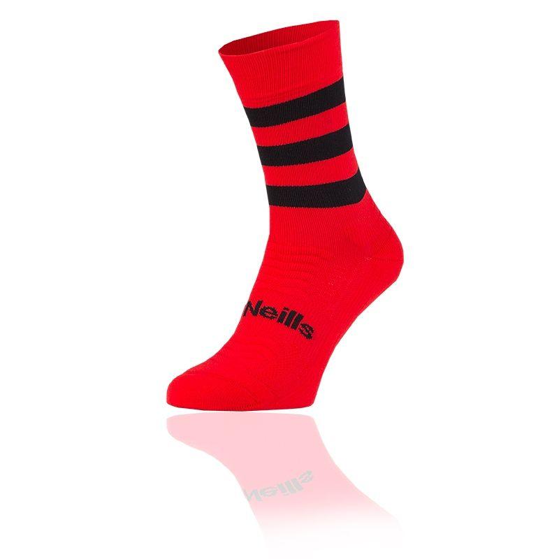 Kids' Koolite Pro Midi Hoop Socks Red / Black