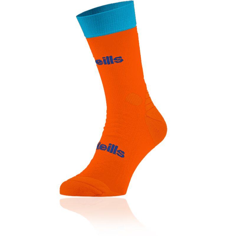Kids' Koolite Pro Midi Socks Flo Orange / Swedish Blue / Royal
