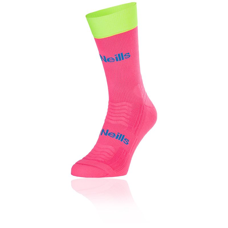 Women's Koolite Pro Midi Socks Flo Pink / Flo Yellow