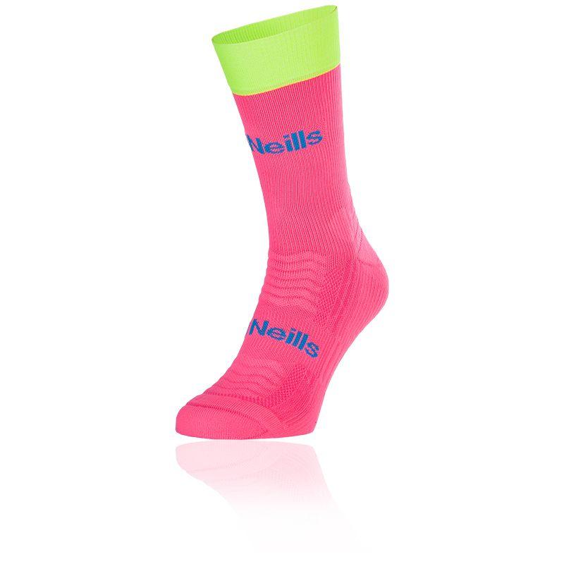 Kids' Koolite Pro Midi Socks Flo Pink / Flo Yellow