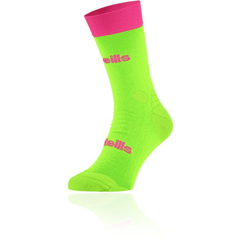 Women's Koolite Pro Midi Socks Neon Lime / Flo Pink