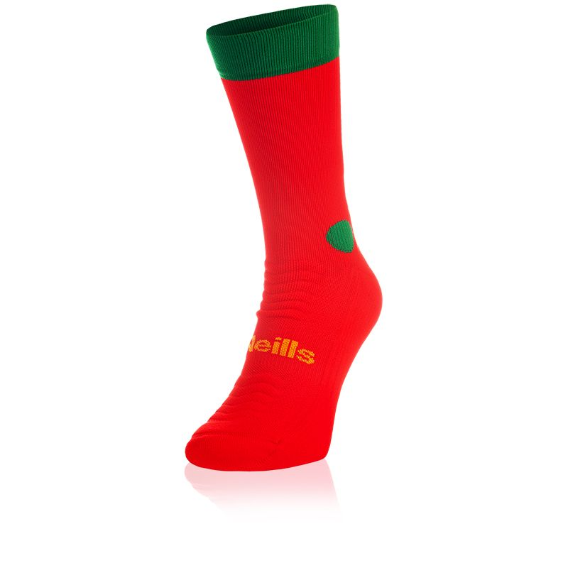 Kids' Koolite Pro Midi Socks Red / Green / Amber
