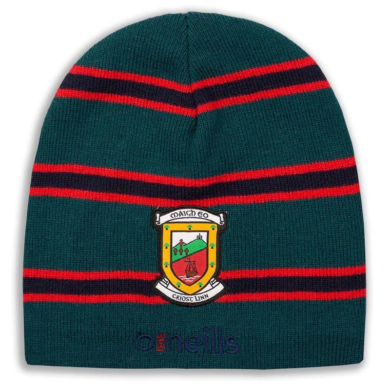 Mayo GAA Solar Beanie Hat (Bottle/Red/Marine) (Kids)