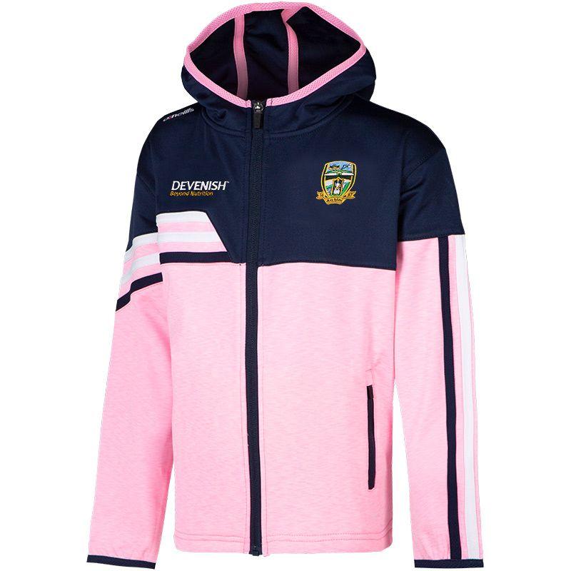 Meath GAA Kids' Nevis Brushed Full-Zip Hoody Pink / Marine / White