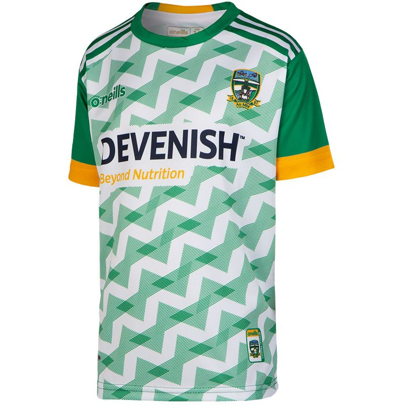 Meath GAA Kids' 2-Stripe Replica Short Sleeve Training Top