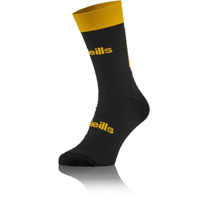 Kids' Koolite Pro Midi Socks Black / Amber