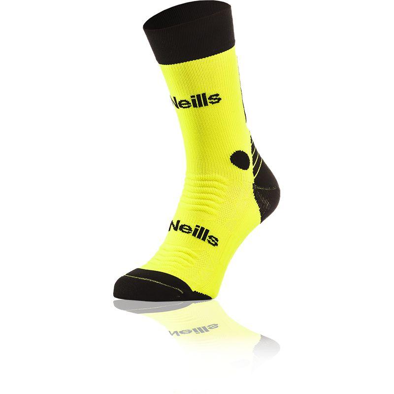 Kids' Koolite Pro Midi Socks Flo Yellow / Black