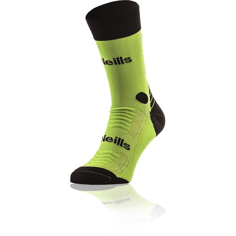 Kids' Koolite Pro Midi Socks Lime / Black
