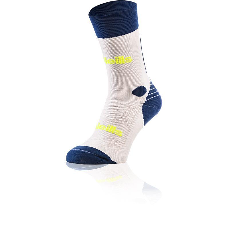 Kids' Koolite Pro Midi Socks White / Royal / Flo Yellow