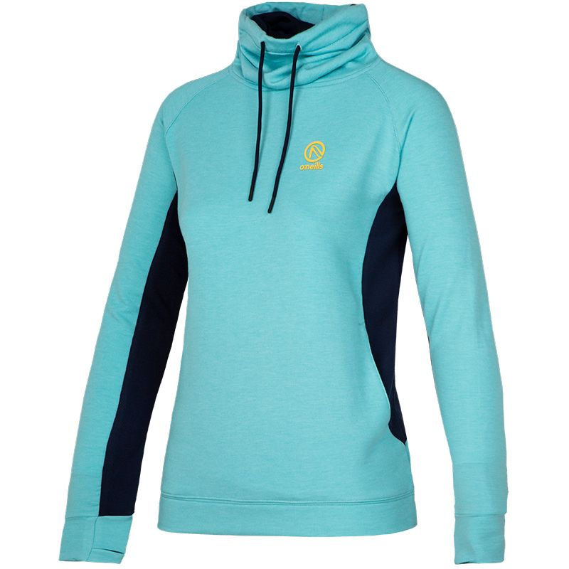 Women's Montana Snood Hooded Top Blue / Marine / Yellow
