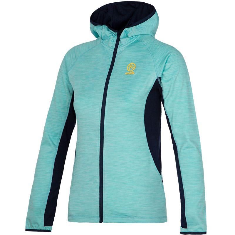 Women's Montana Full-Zip Hooded Top Blue / Marine / Yellow