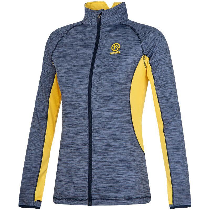 Women's Montana Brushed Full-Zip Top Blue / Yellow