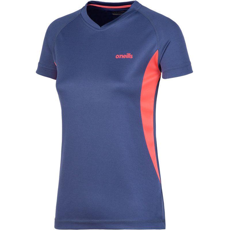 Women's Montana T-Shirt Indigo / Pink