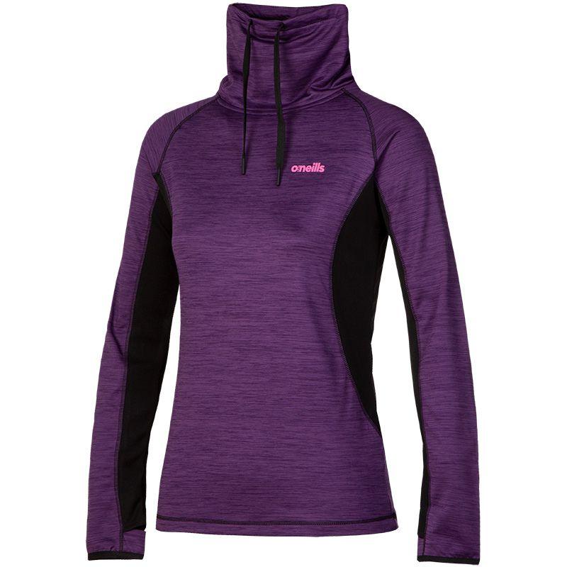 Women's Montana Brushed Funnel Neck Top Purple / Black / Pink